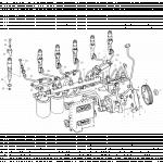 Трубки ТНВД топливного насоса высокого давления (комплект 6 шт) FAW 3252 (ФАВ 3252)
