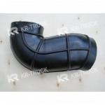 Патрубок воздухозаборника HOWO WD615 (угловой/Г-образный)