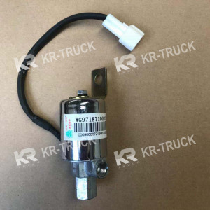 Клапан электромагнитный звукового сигнала Howo A7 SITRAK